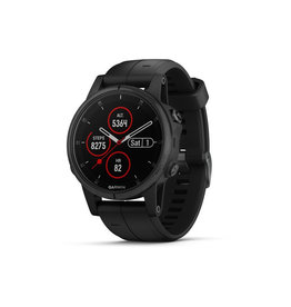 Garmin Garmin Fenix 5S Plus - GPS multisport smartwatch met polshartslagmeter - 42 mm - Zwart/ Zilver - koopjeshoek