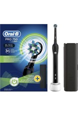 Oral B Oral-B PRO 750 Black Cross Action - Elektrische Tandenborstel