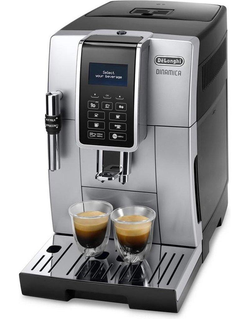 DeLonghi DeLonghi DINAMICA ECAM 350.35.SB Vrijstaand Volledig automatisch Espressomachine Zwart, Zilver