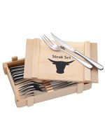 WMF WMF Steakbestek in houten kistje - 12-delig koopjeshoek