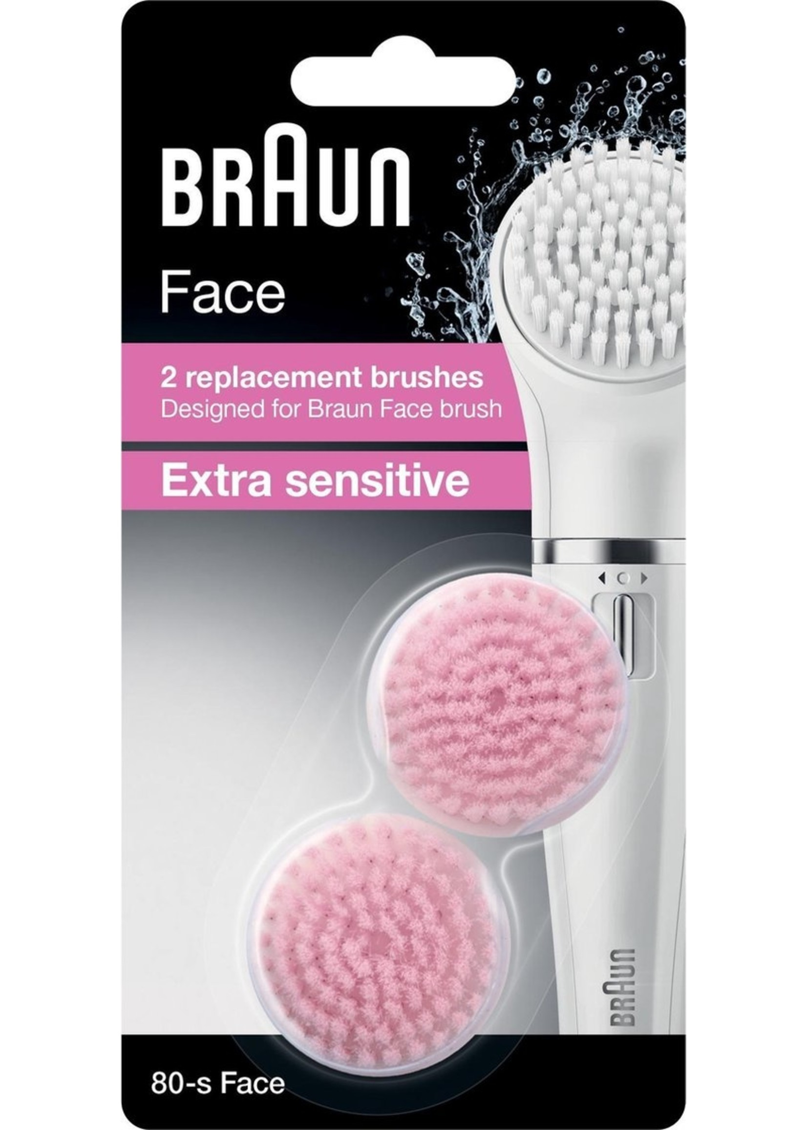 Braun Braun Face 80-s Extra Sensitive Vervangende Epilatorborstels