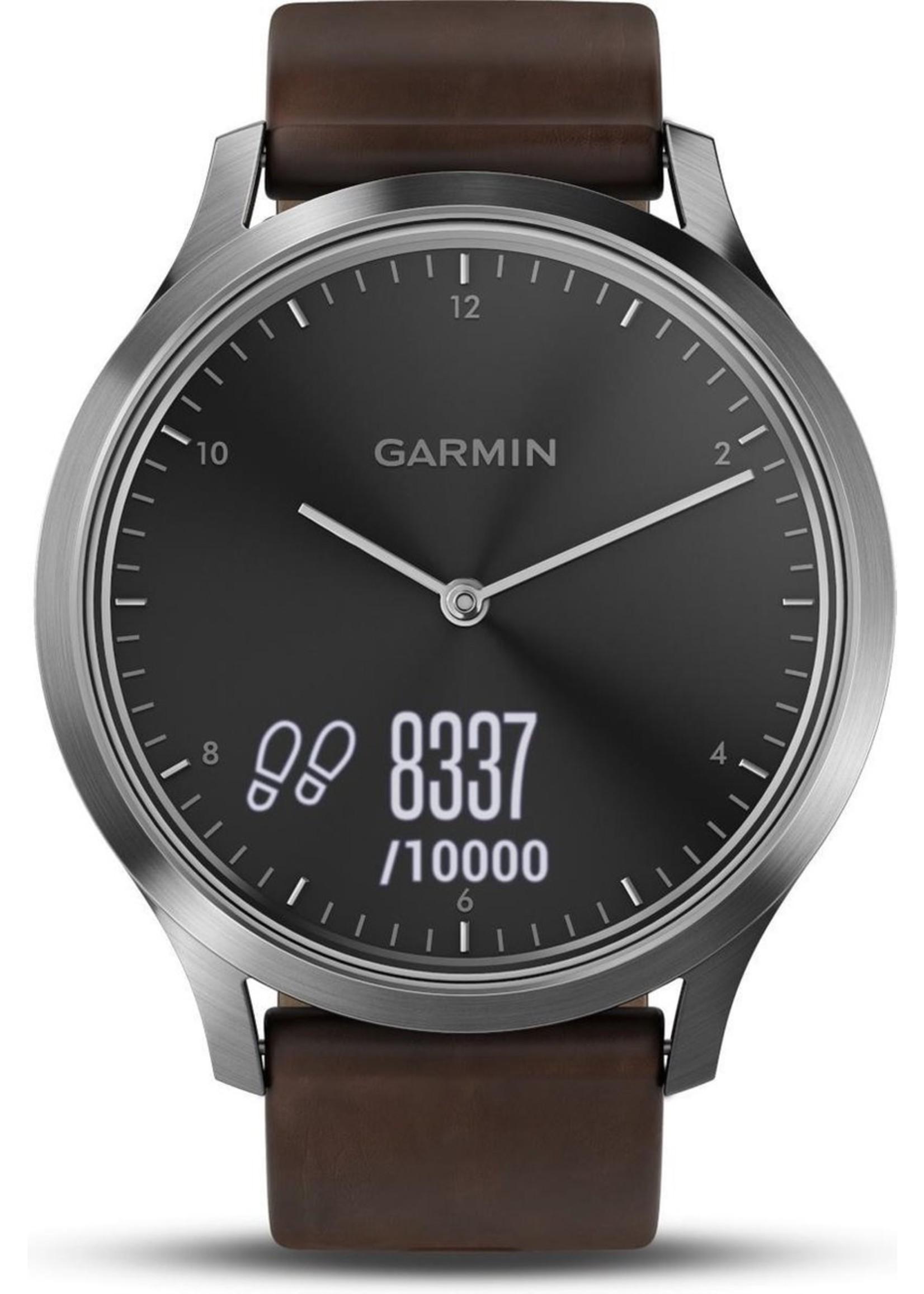 Garmin Garmin Vivomove HR Premium Hybrid Smartwatch - 43 mm - Bruin