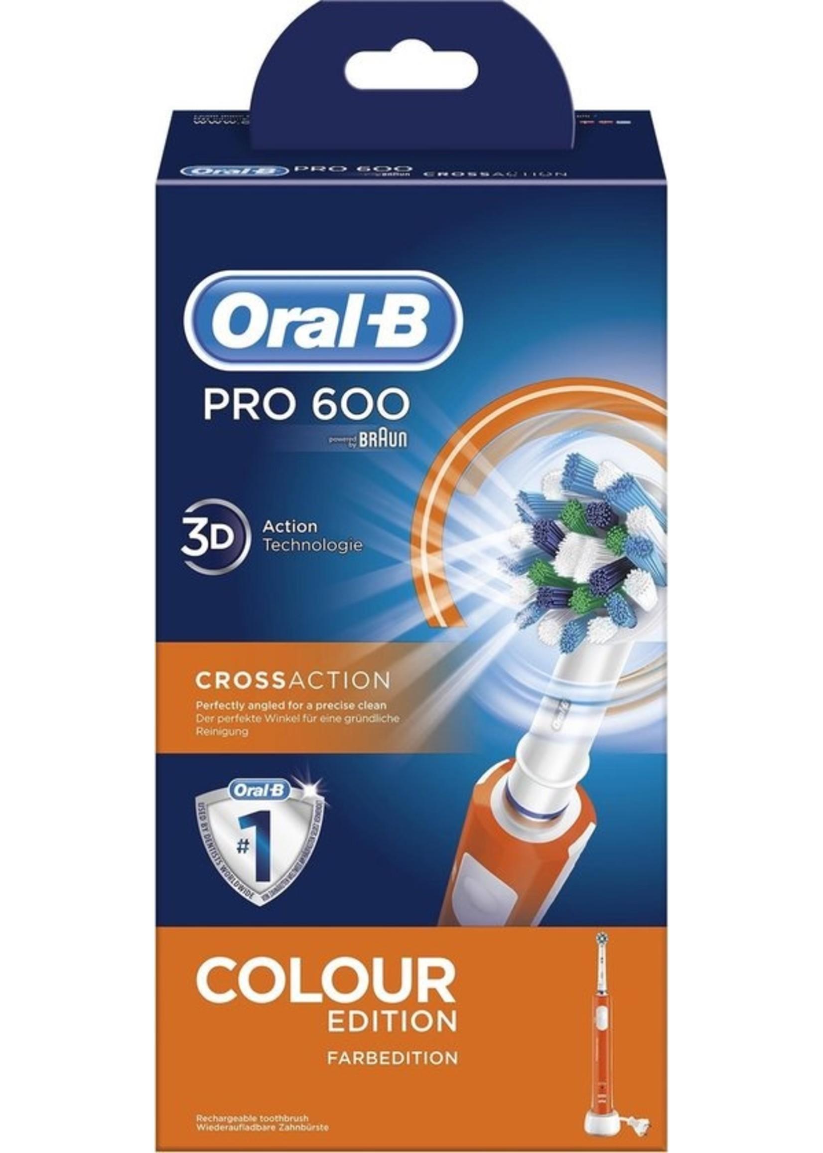 Oral-B Oral-B PRO 600 CrossAction - Elektrische Tandenborstel - Orange edition