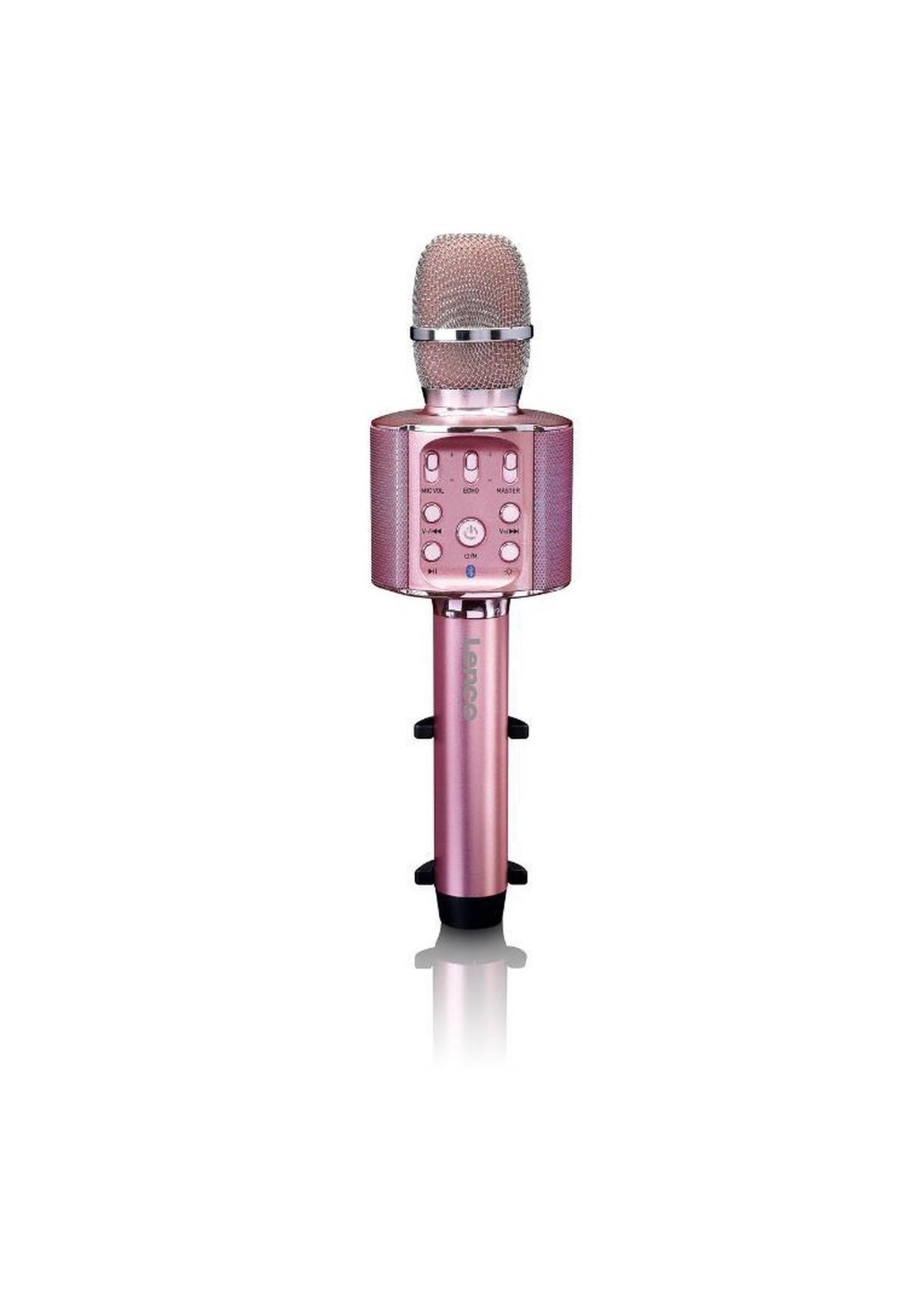Lenco Lenco BMC-090 - Karaoke microfoon met Bluetooth en LED-effect - Roze koopjeshoek