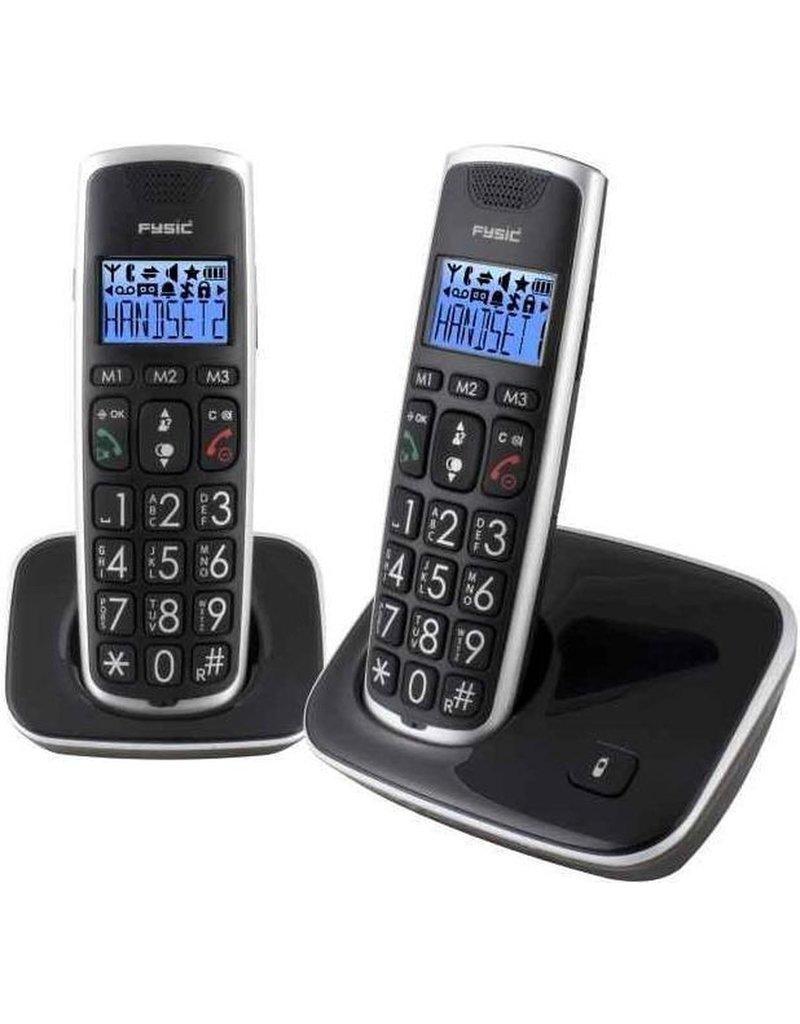 fysic Fysic FX-6020 - Big Button Dect telefoon - 2 handsets - Zwart koopjeshoek