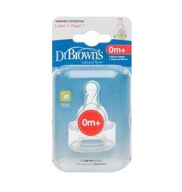 Dr.Browns Dr. Brown's Flesspeen Standaard Hals Fase 1 -   2-Pack  - koopjeshoek