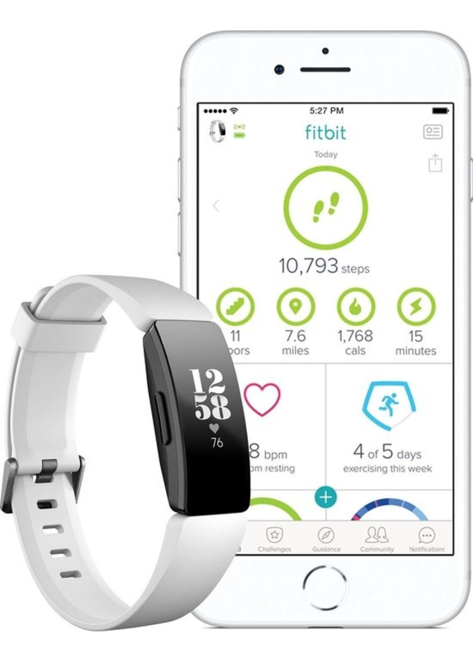 Fitbit Fitbit Inspire HR - Activity tracker - Wit