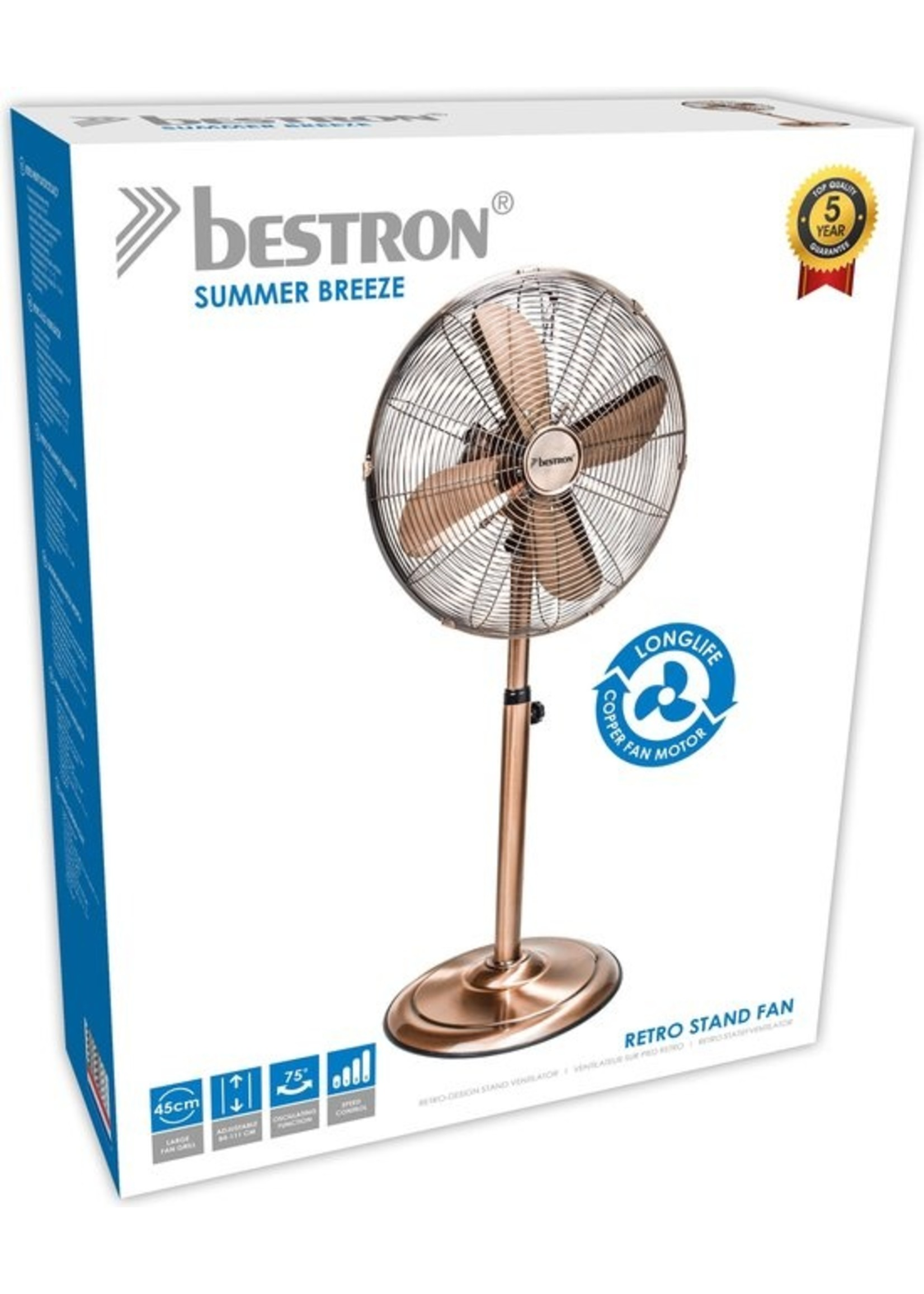 Bestron Bestron - Statiefventilator - DFS45SCO - Koper