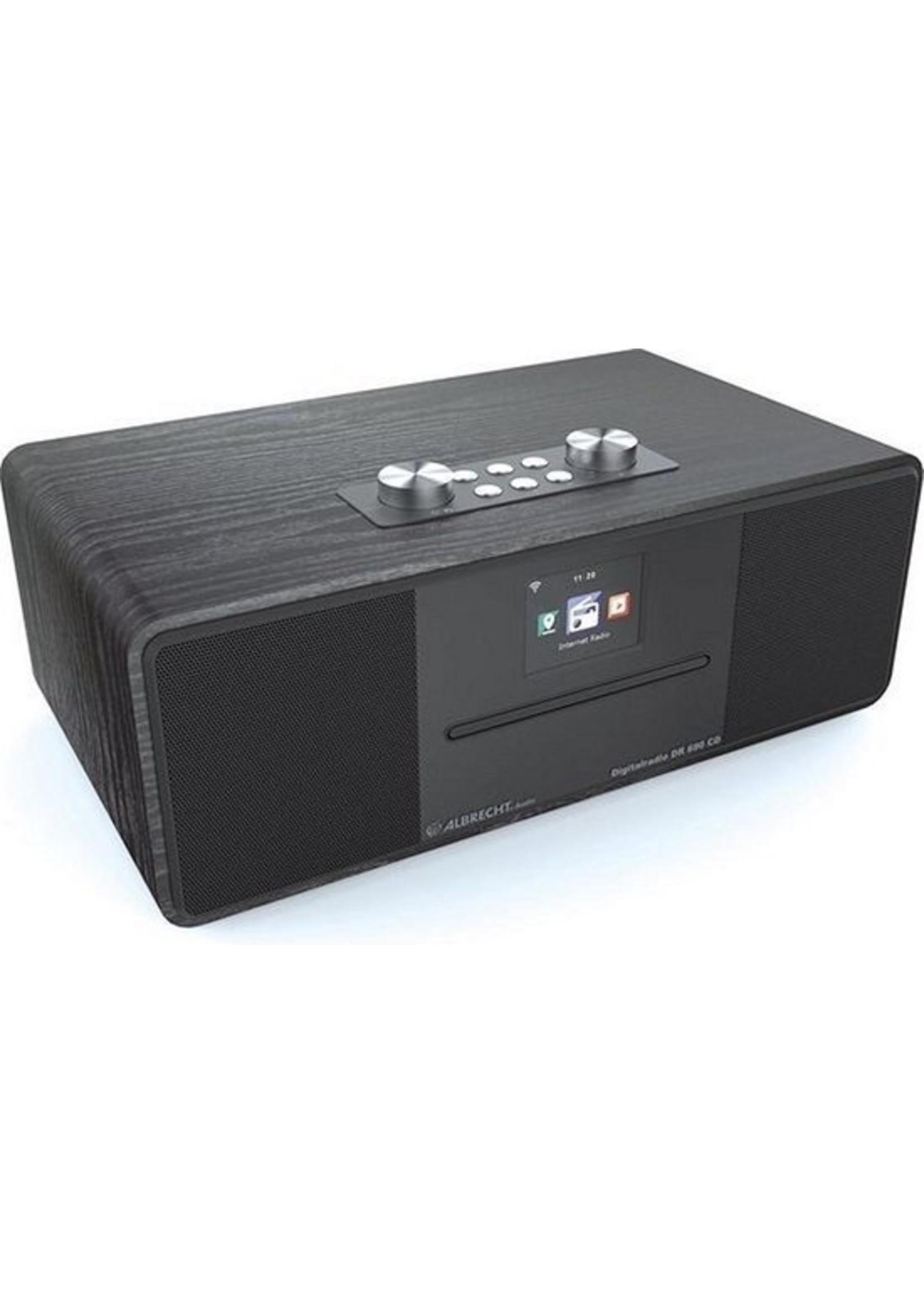 Albrecht Albrecht DR 690 hybrideradio - CD-speler - DAB  en FM- internetradio met bluetooth, zwart