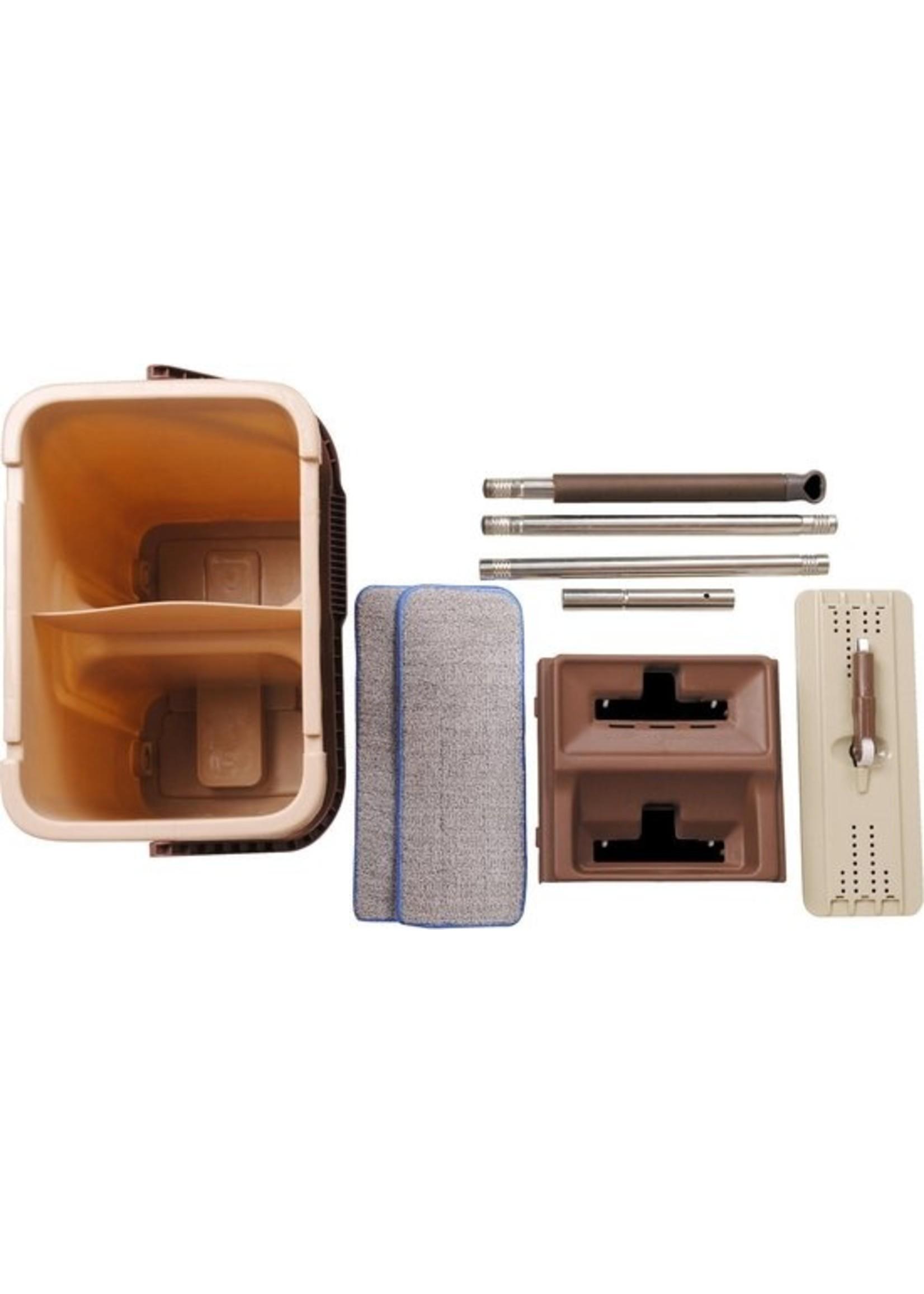 Cenocco Cenocco CC-9070 vlakke mop - Inclusief emmer - Bruin