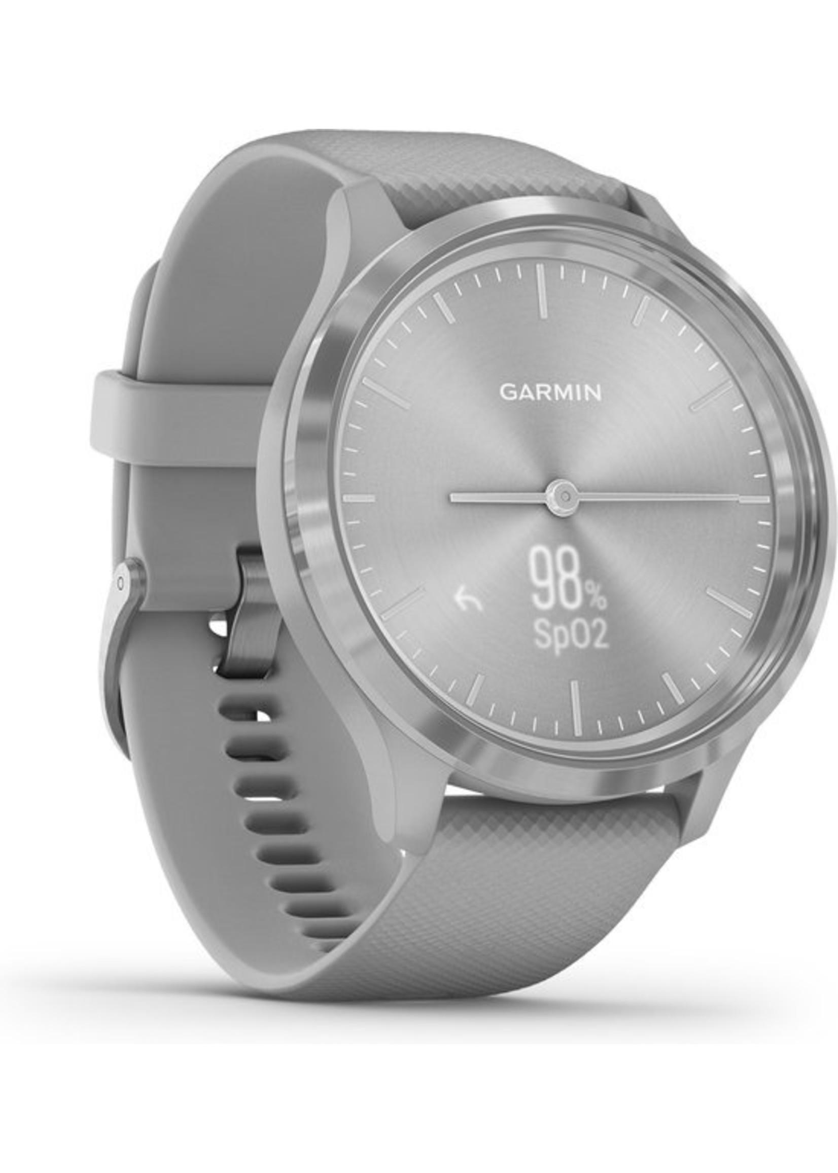 Garmin Garmin Vivomove 3 - hybride smartwatch dames - 44 mm - Zilver/grijs