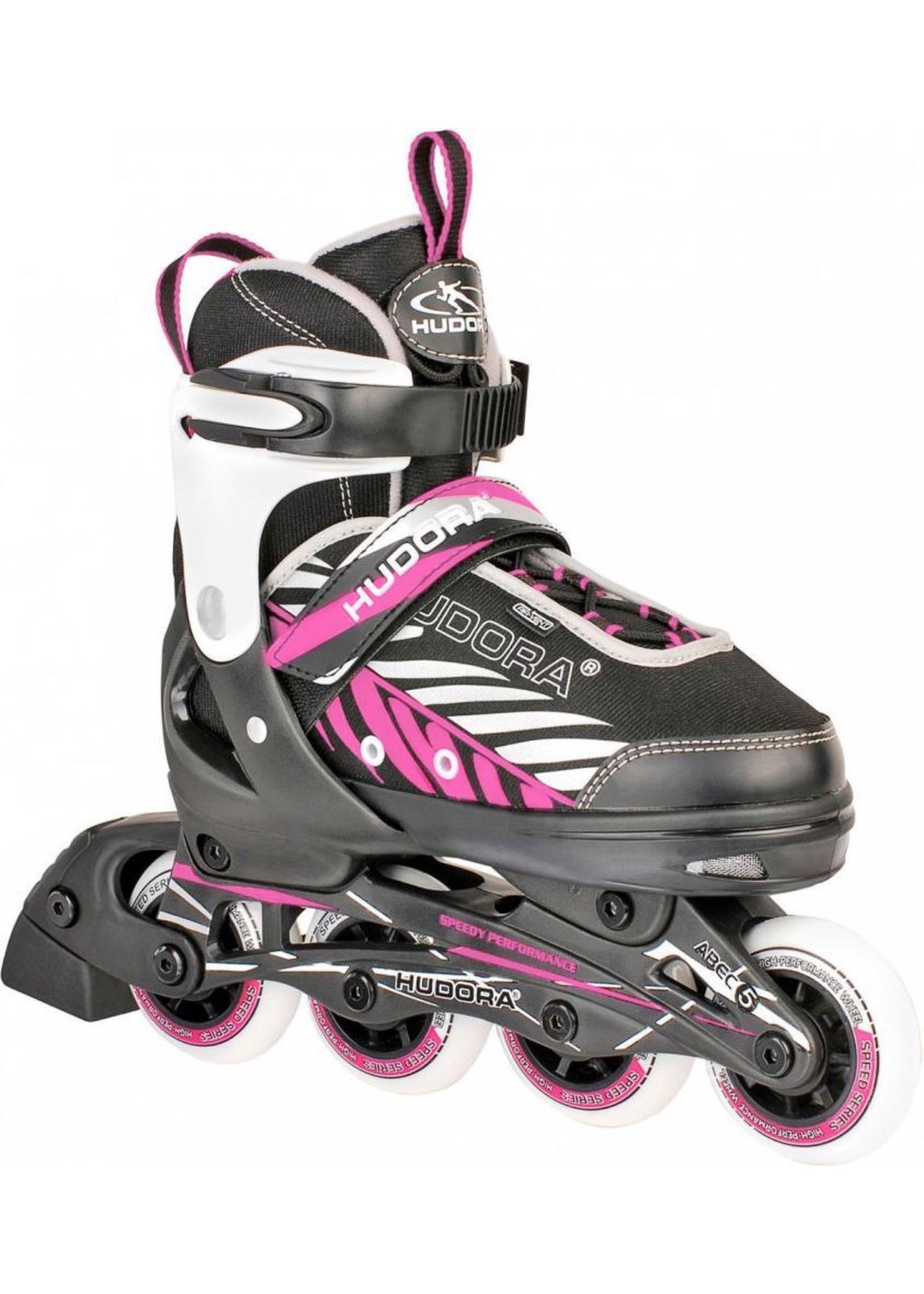 HUDORA Hudora Inline Skates 37-40 Zwart/Roze koopjeshoek