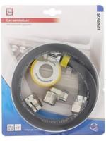 """Scanpart Scanpart gasslang aansluitset - 1/2"""" - 100 cm - Aluminium koopjeshoek"""