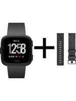Fitbit Fitbit Versa - Smartwatch - Special Edition - Zwart koopjeshoek