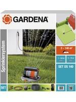 Gardena GARDENA Sprinklersysteem - Complete set incl. verzonken zwenksproeier - gazons tot 140 m²