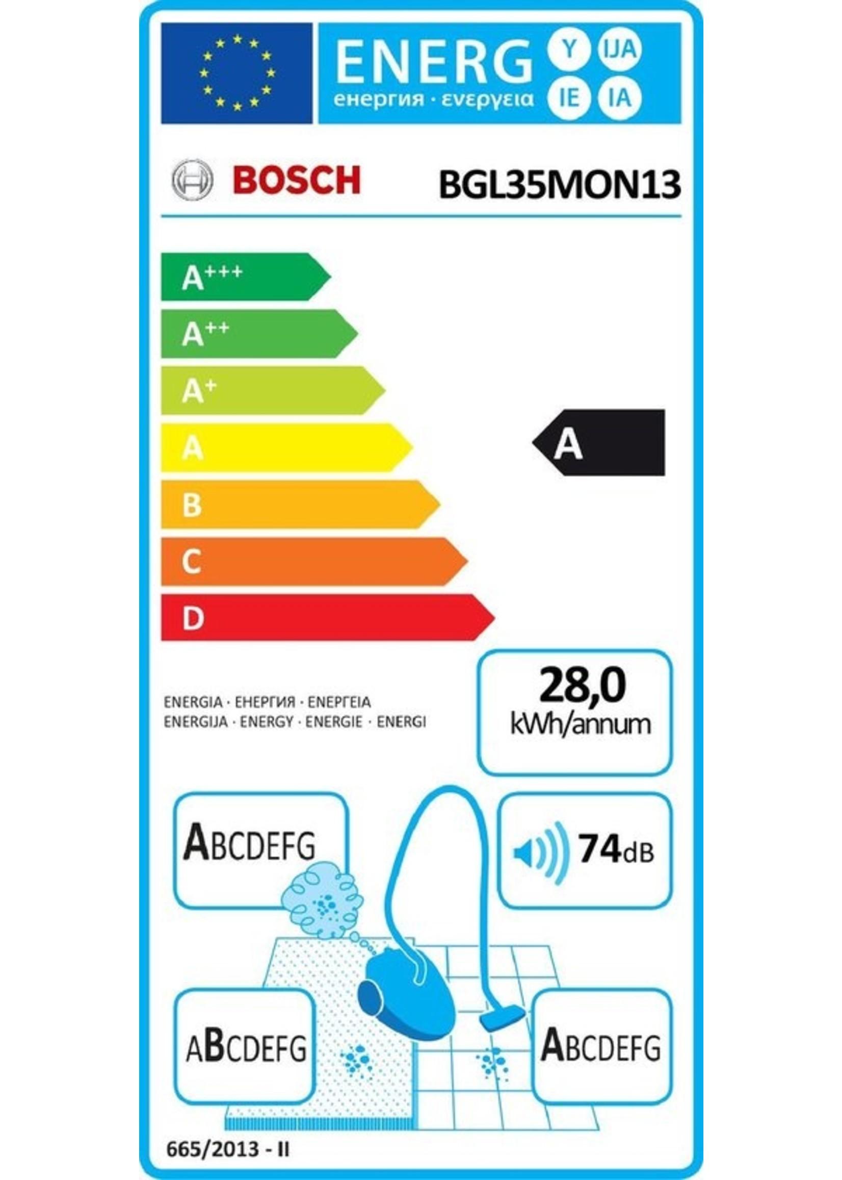 Bosch Bosch Haushalt Bgl35Mon13 - Stofzuiger met zak