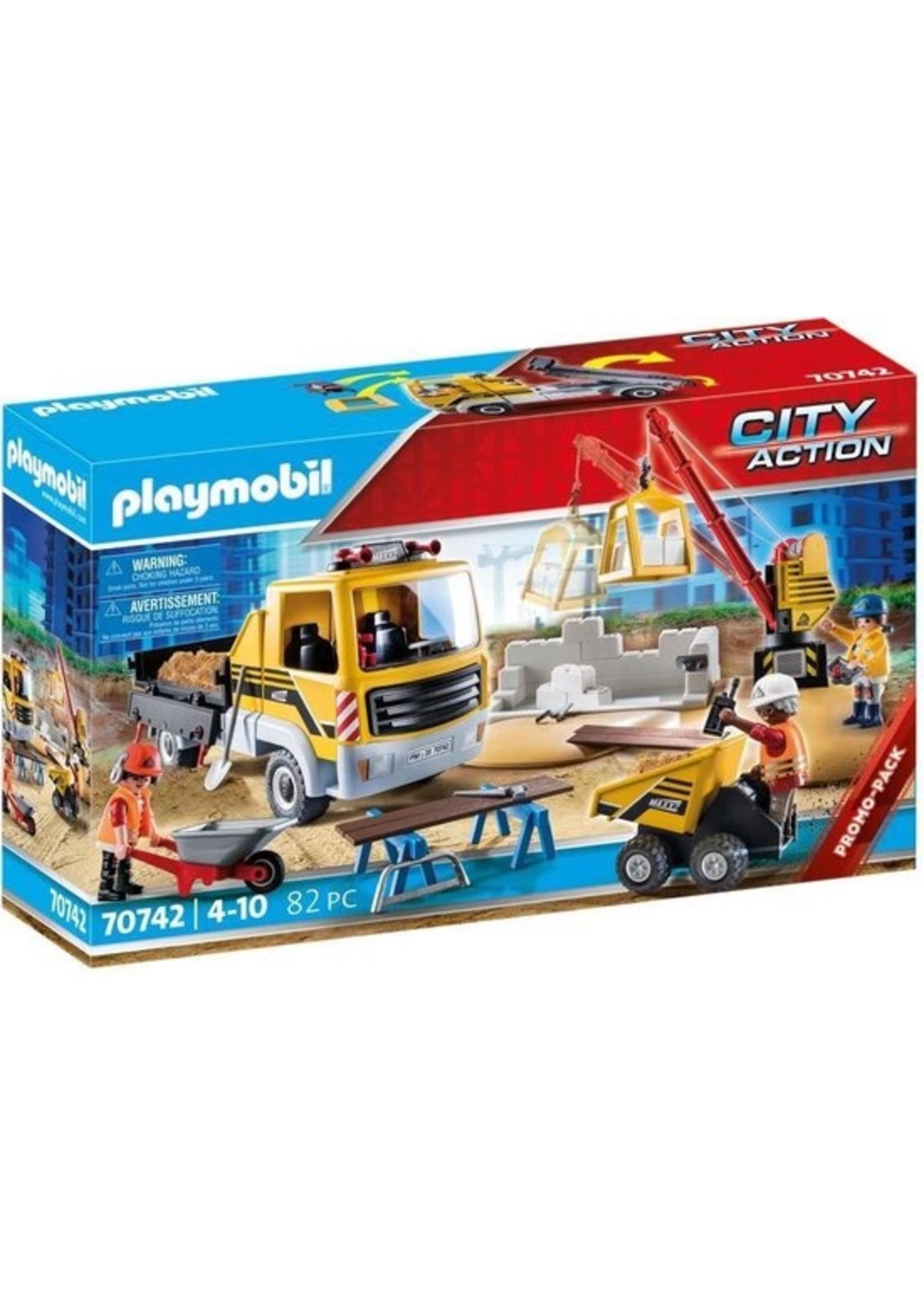 Playmobil PLAYMOBIL City Action Bouwplaats met kiepwagen - 70742