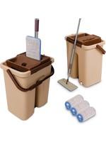 Cenocco Cenocco CC-9070 vlakke mop - Inclusief emmer - Bruin koopjeshoek