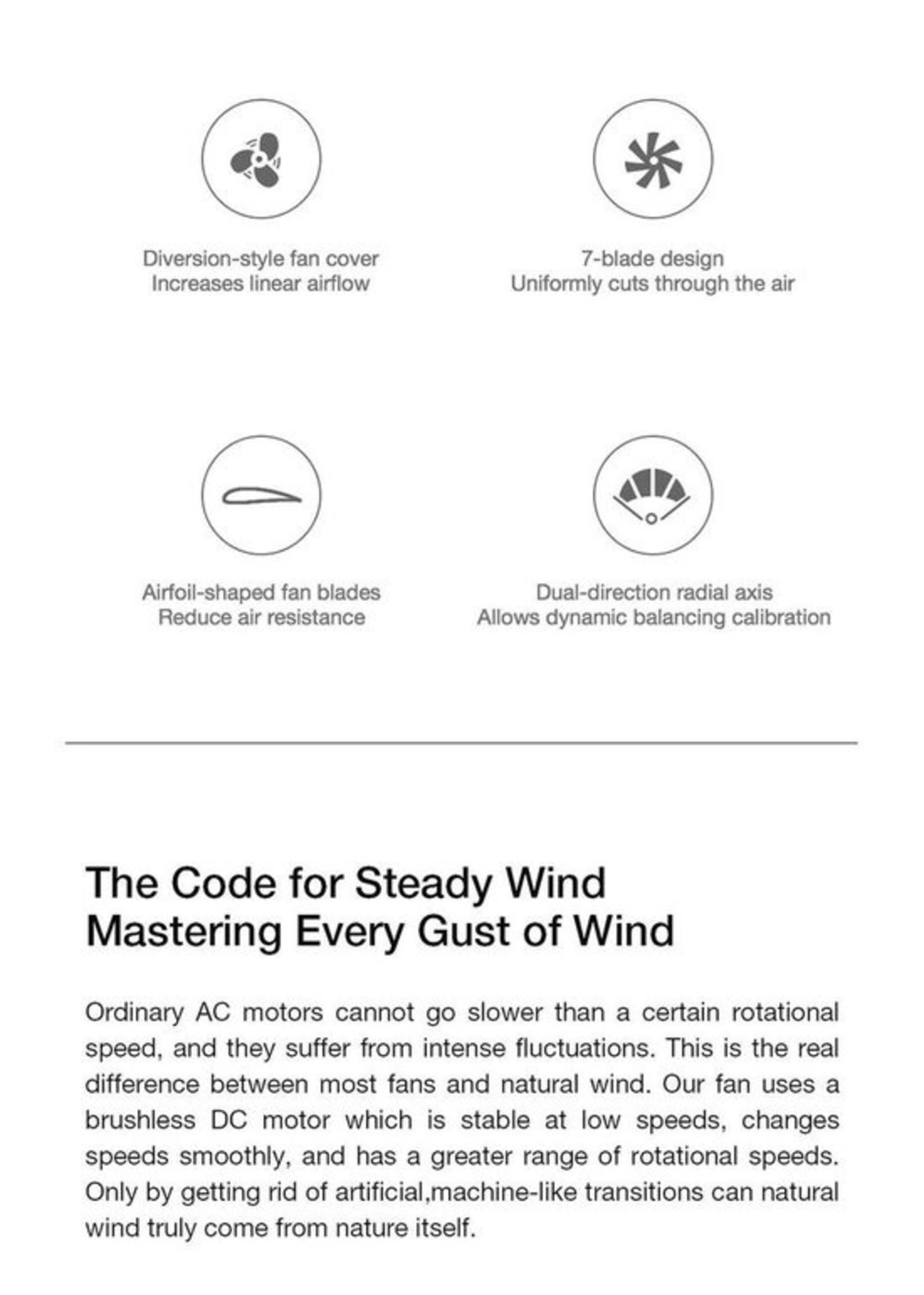 Xiaomi Xiaomi Smartmi draadloze statiefventilator: Pedestal Fan 2S