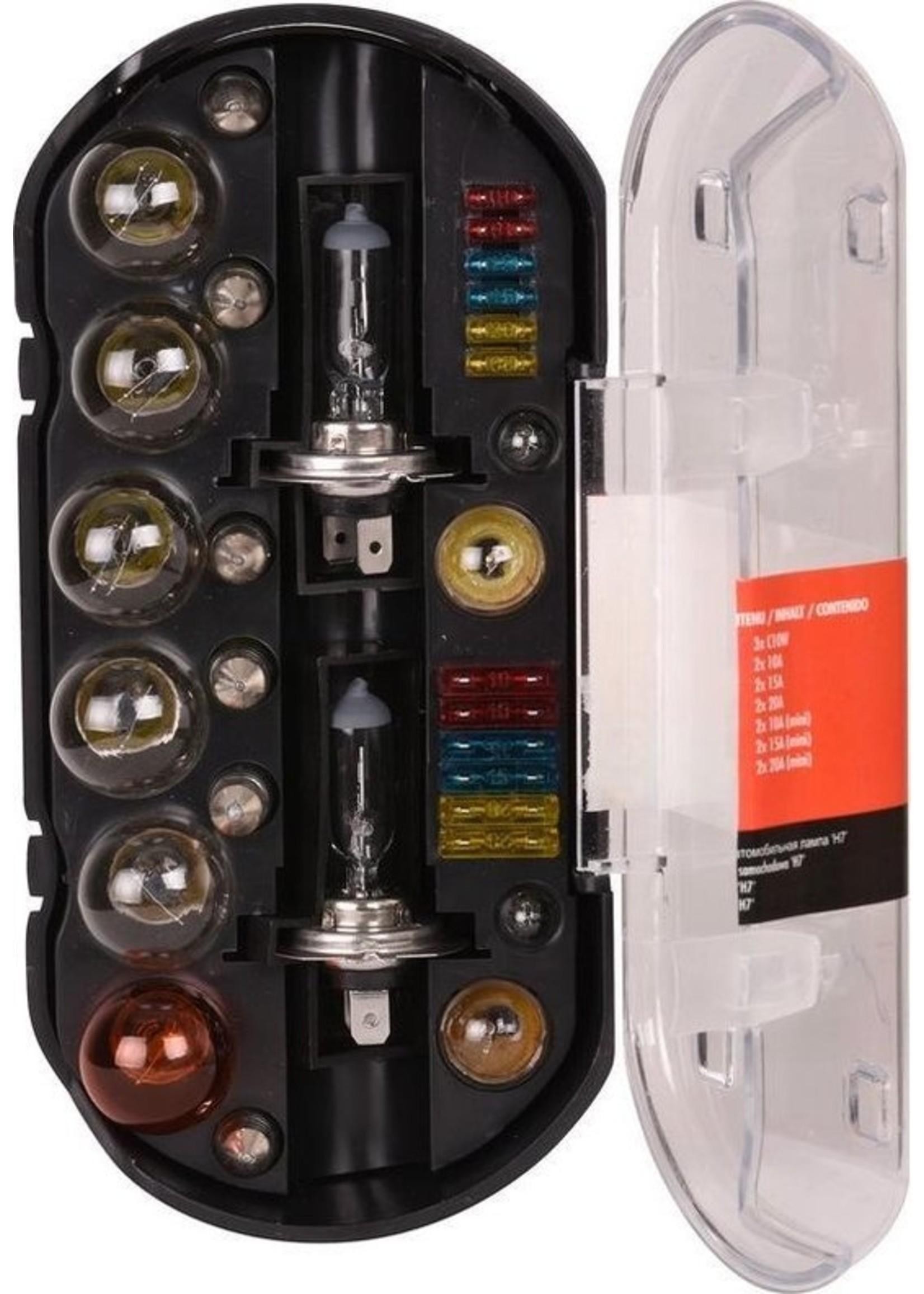 Carpoint Carpoint 30-Delige Reservelampenset  - H7 Autolamp - Koplamp koopjeshoek