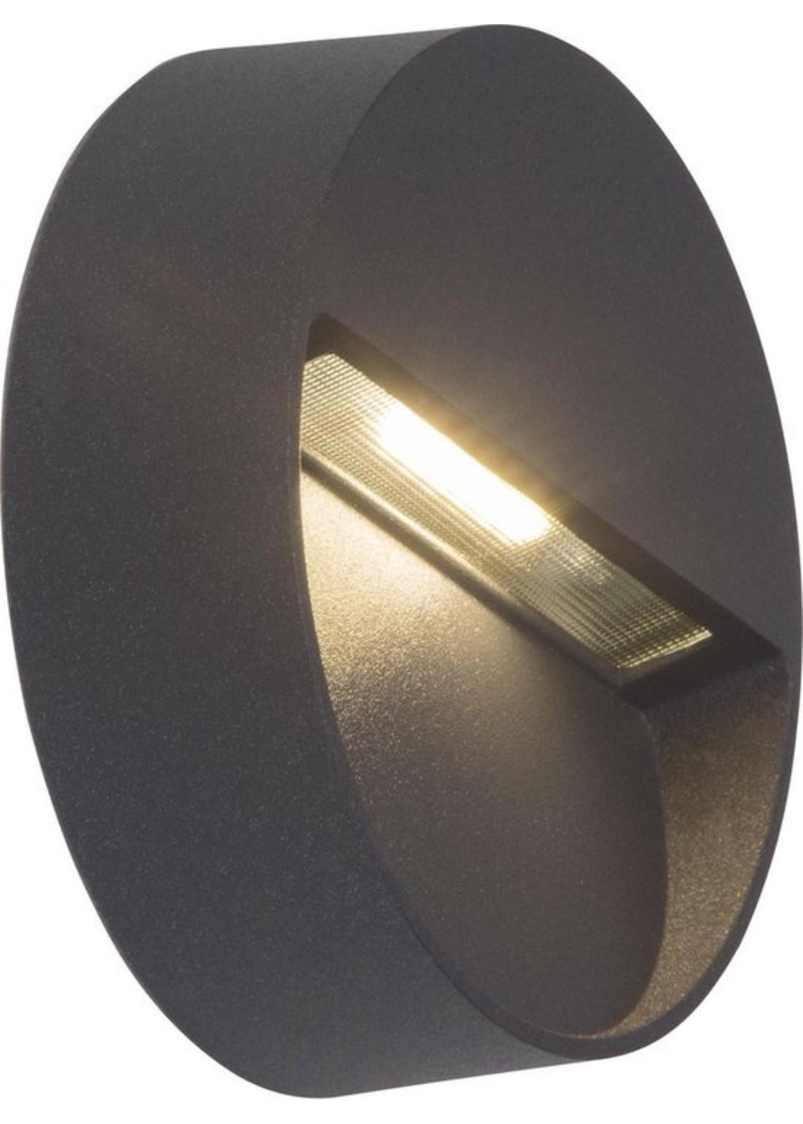 AEG AEG lamp voor LED buitenwandlamp rond antraciet | 1x 3W LED