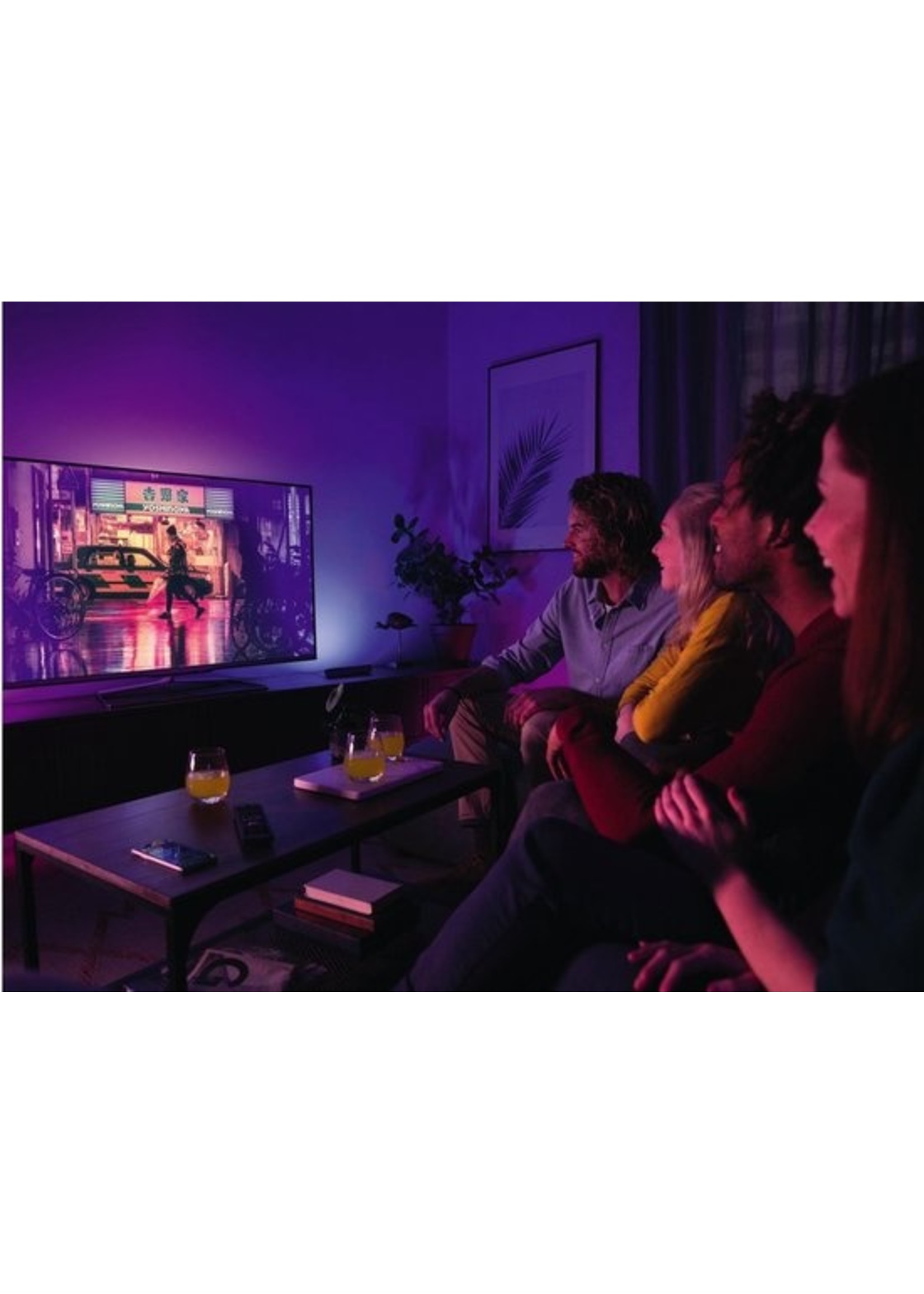 Philips Philips Hue Play Lichtbalk Tafellamp basis - White and Color Ambiance - Gëintegreerd LED - Zwart - Bluetooth - 2 Stuks koopjeshoek
