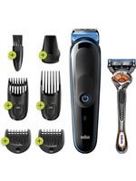 Braun Braun MGK5245 7-in-1 Trimmer Baardtrimmer Voor Mannen - Gezichts- En Haartrimmer - Zwart/Blauw