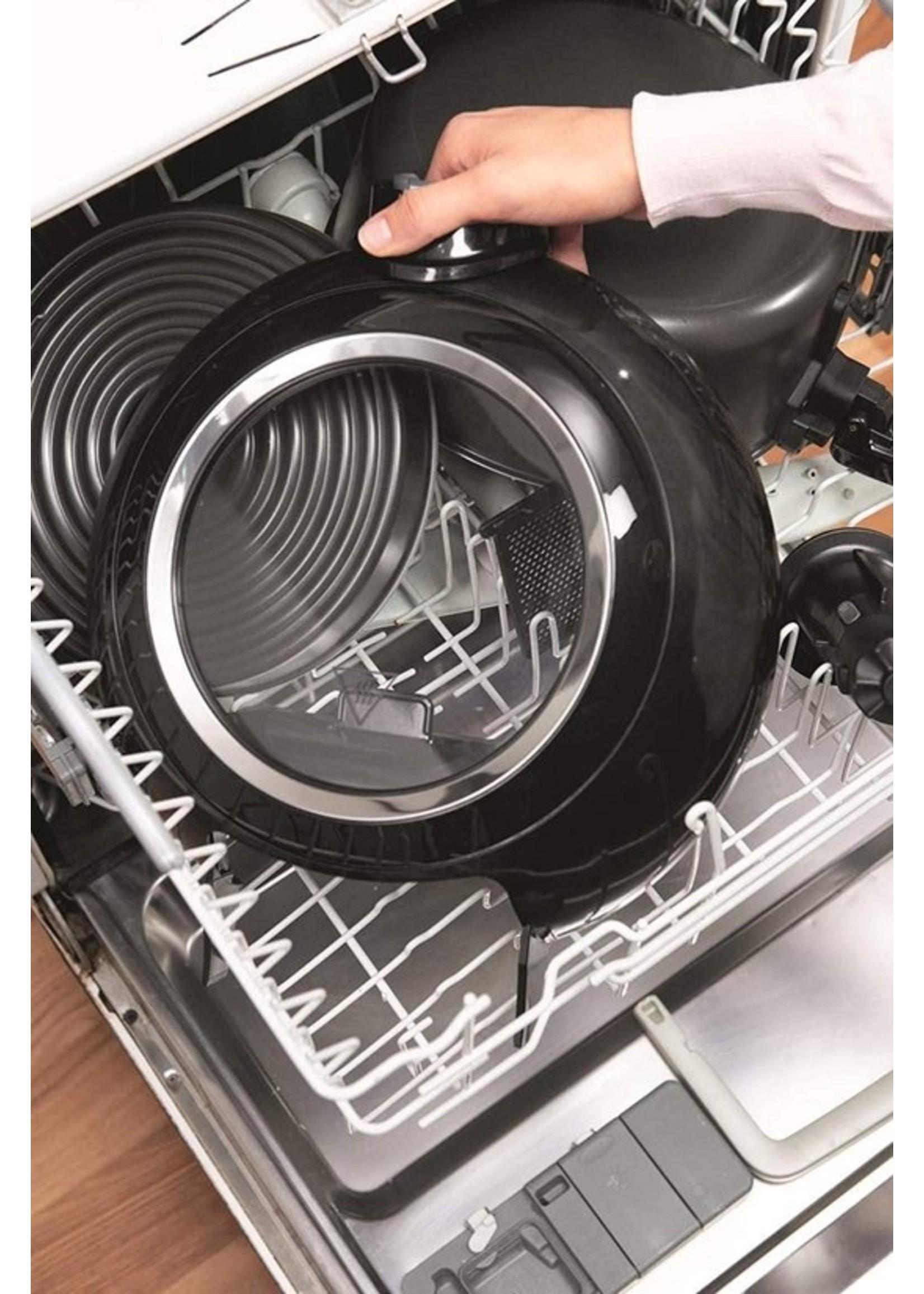 Tefal Tefal ActiFry Genius XL YV9708 friteuse Heteluchtfriteuse Dubbel Zwart 1500 W