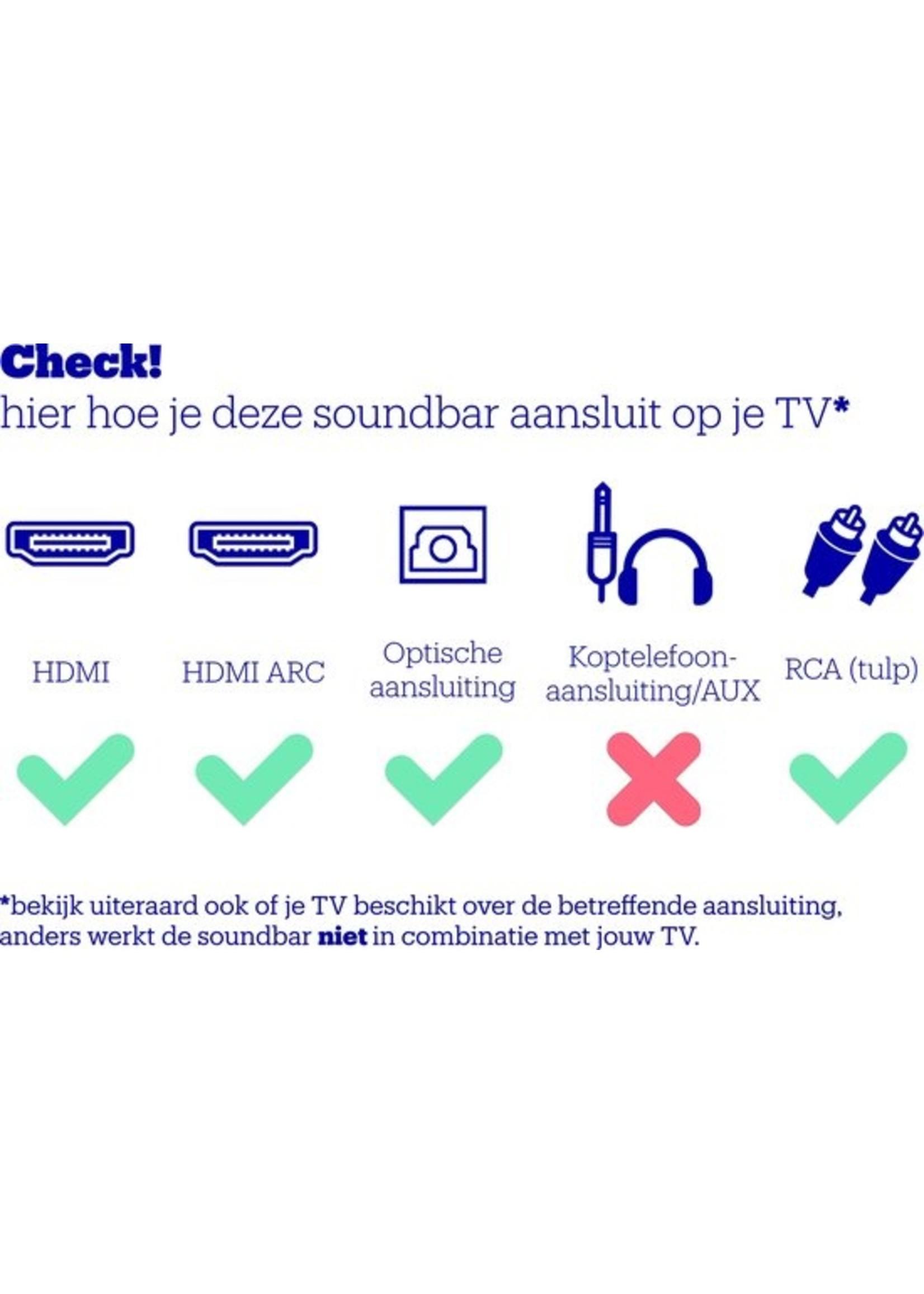 Philips Philips HTL1508 - Soundbar - Zwart koopjeshoek