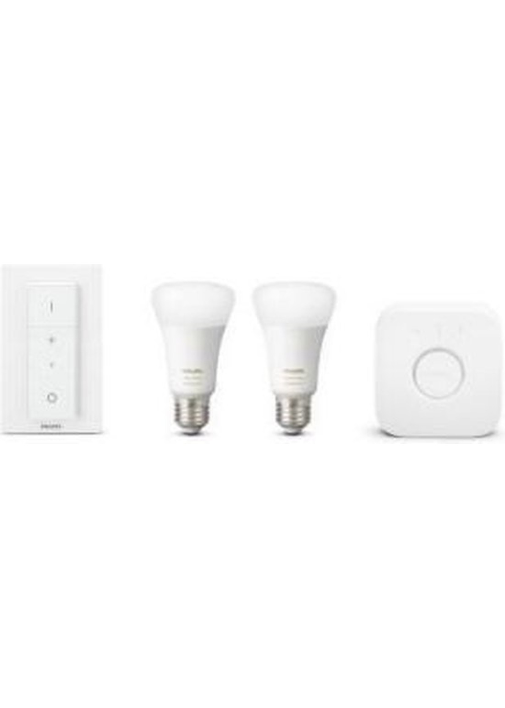 Philips Philips Hue Starterspakket E27 Lichtbron met Bridge en Dimmer Switch - White and Color Ambiance - 2 x 9W - Bluetooth