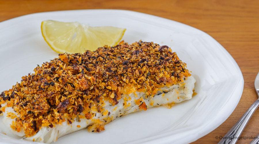Recept: Kabeljauw met knapperig laagje en rode pesto!