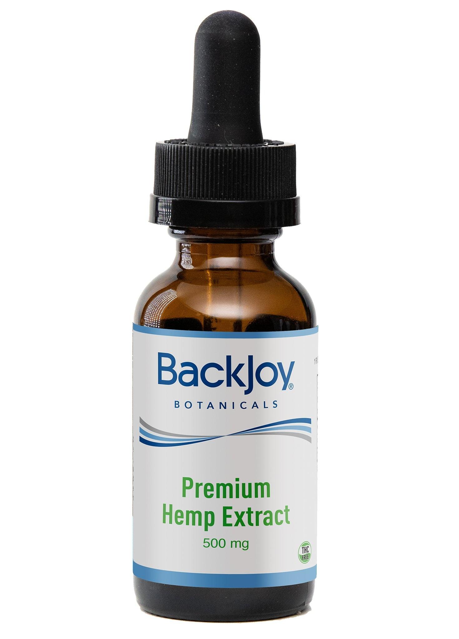 Backjoy Premium Hemp Extract Oil 500mg by BackJoy Botanicals
