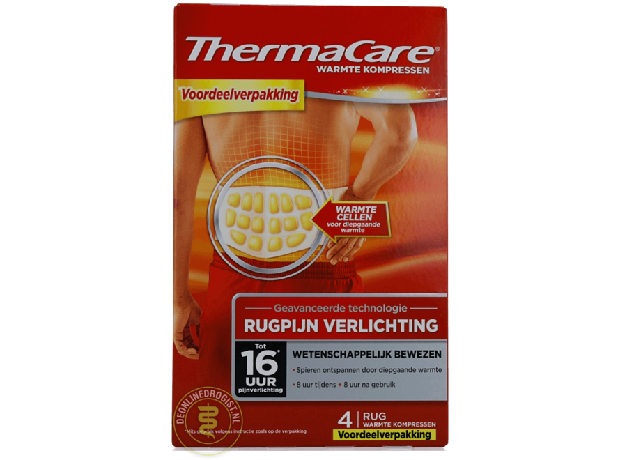 ThermaCare Compresas de calor para el dolor de espalda
