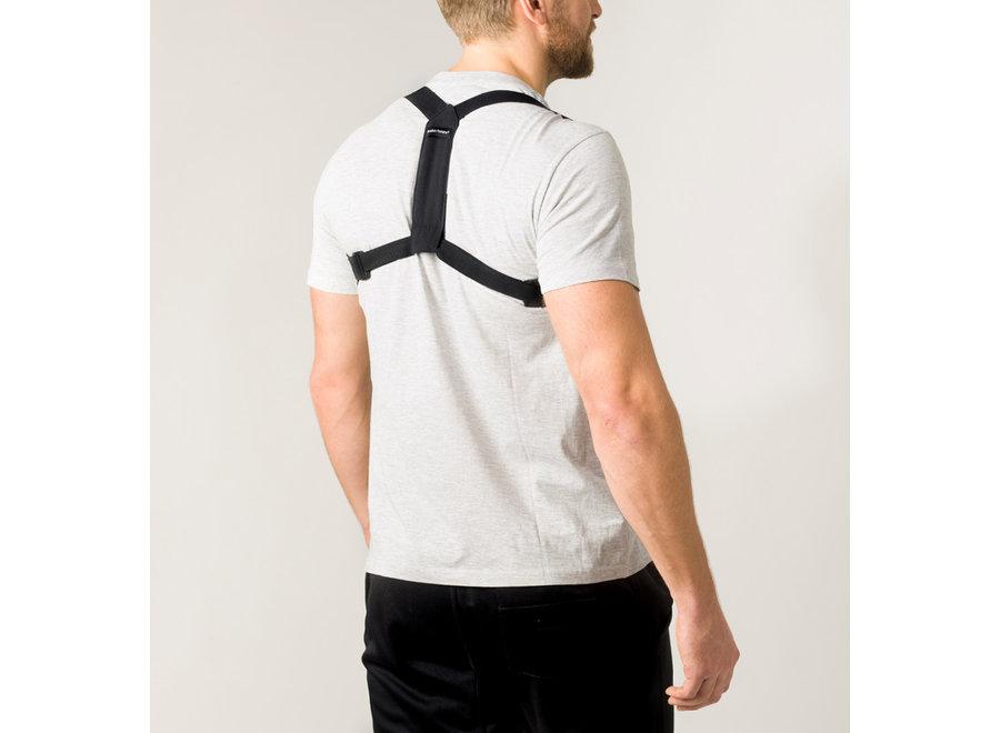 Swedish Posture Flexi Posture Brace Black XS