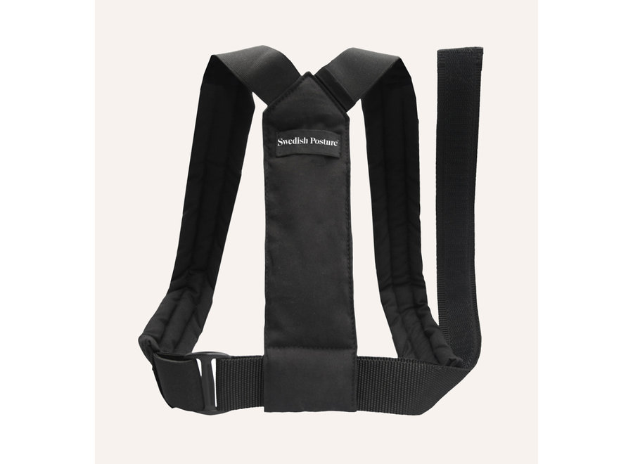 Swedish Posture Flexi Posture Brace Black M-L
