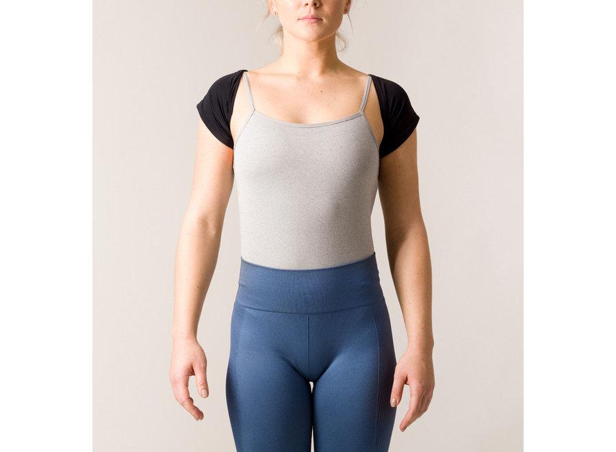 Feminine Elegant Posture Bolero Black M-L