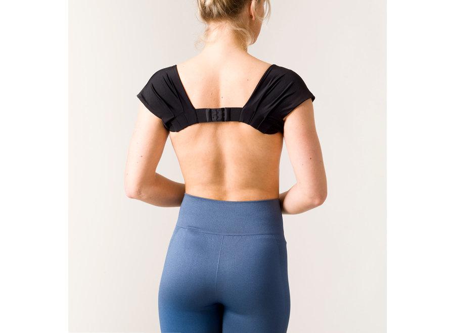 Feminine Elegant Posture Bolero Black L-XL