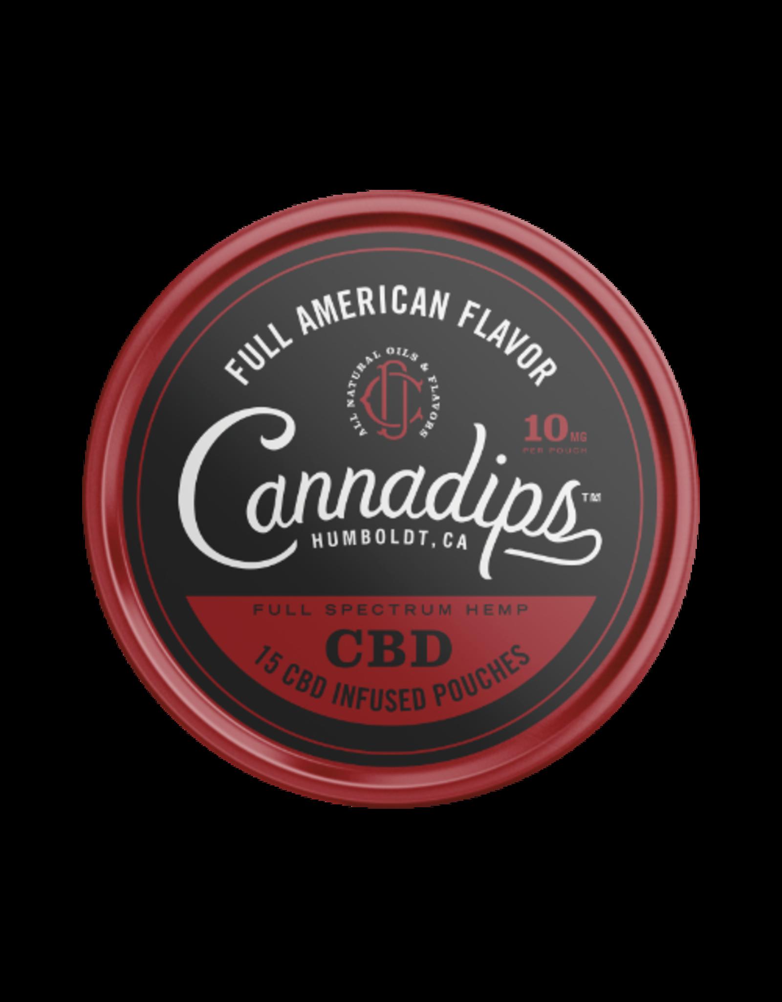 Cannadips Cannadips Full American FlavourCBD  8,25g Dose