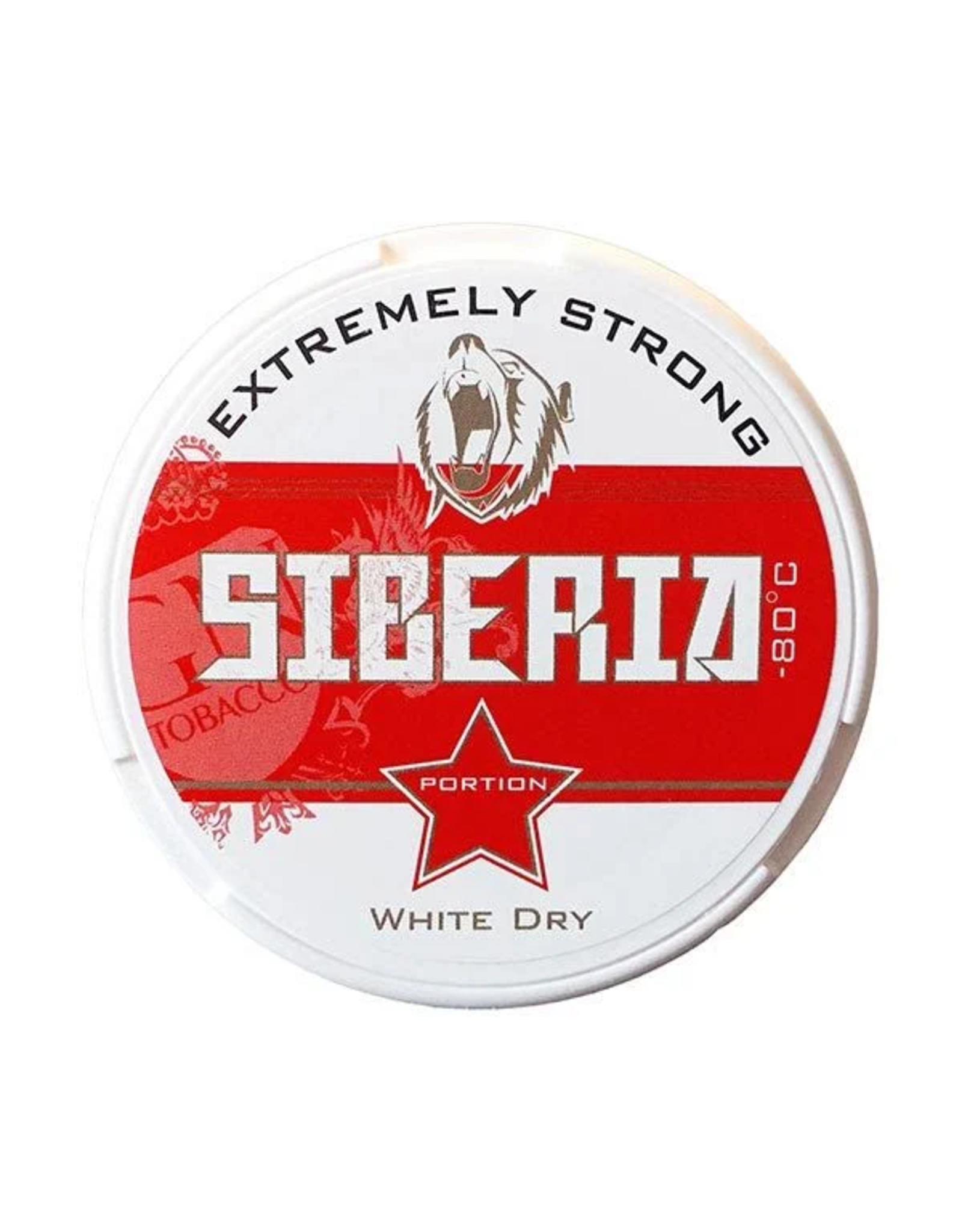 Siberia Siberia -80° Red Extremely Strong White Dry Chewing Bags