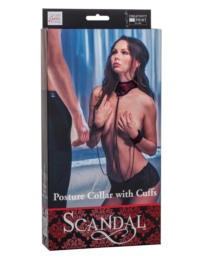 CalExotics CalExotics Scandal Posture Collar With Cuffs