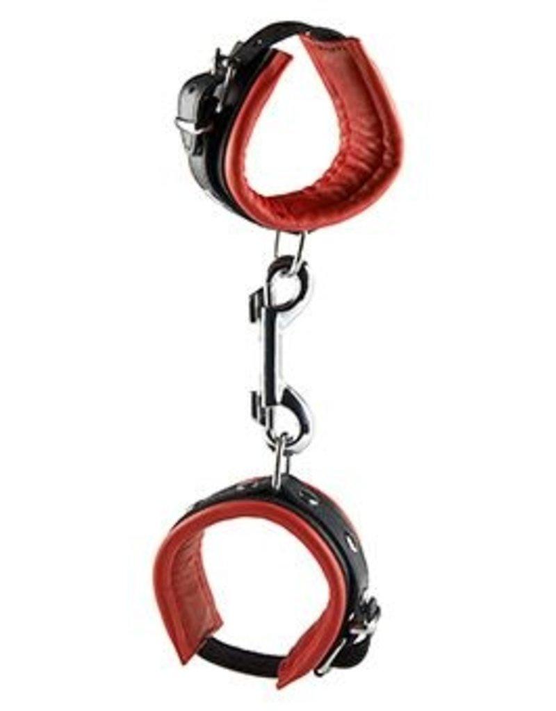 Hidden Desire Hidden Desire Lederen Handboeien Rood 5 cm