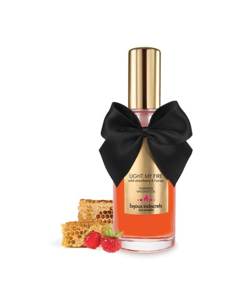 Bijoux Cosmetiques Bijoux Cosmetiques Massage Olie Verwarmend Wilde Aardbei