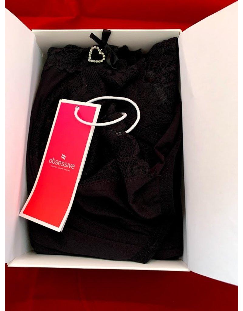 Obsessive Obsessive Alluria Kimono & String Zwart S/M