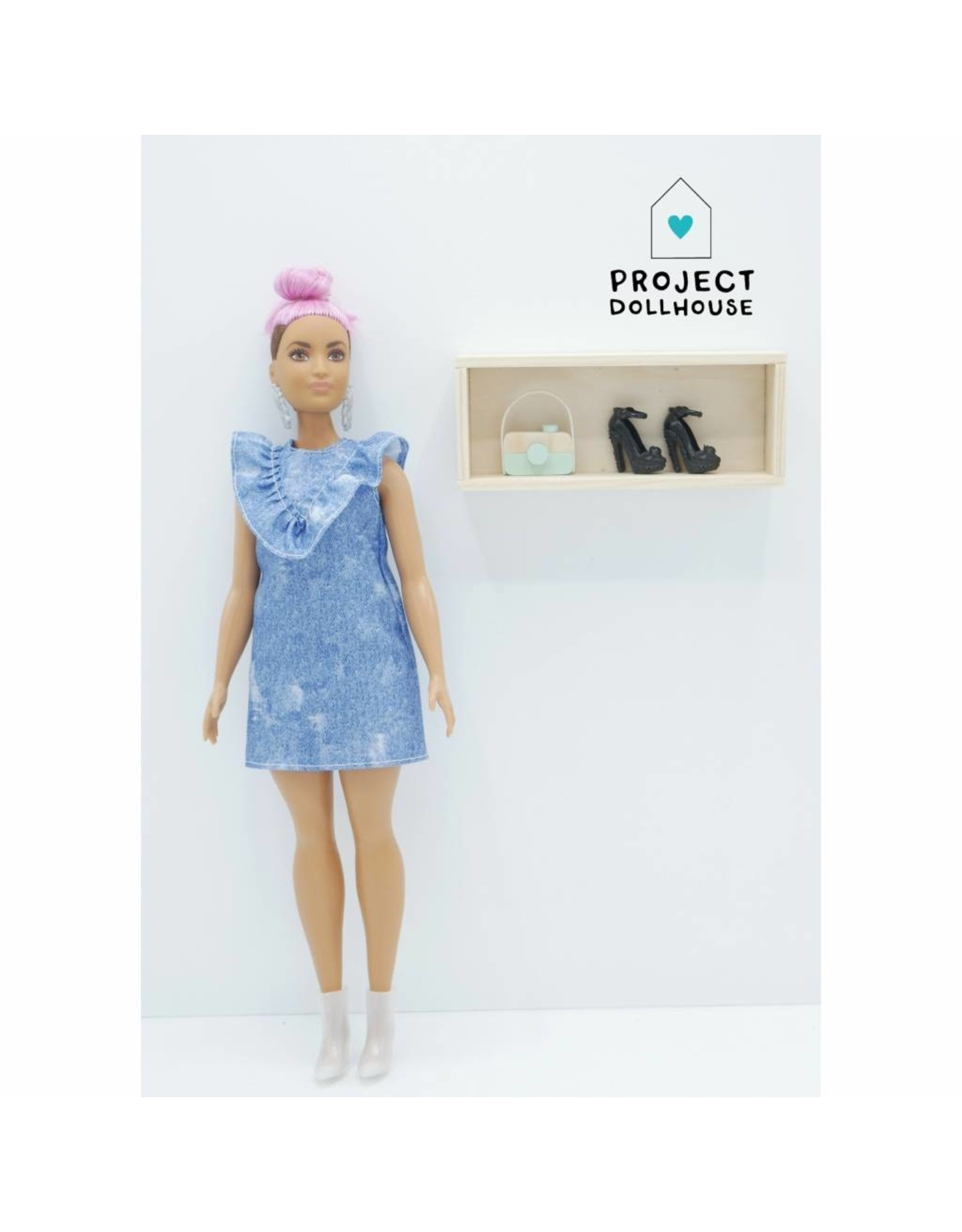 Project Dollhouse Wall Cabinet Wood Barbie