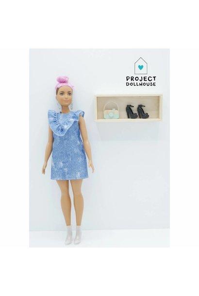 Wall Cabinet Wood Barbie
