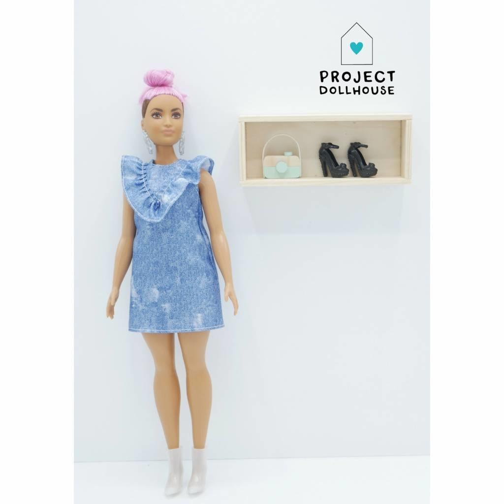 Wall Cabinet Wood Barbie-1