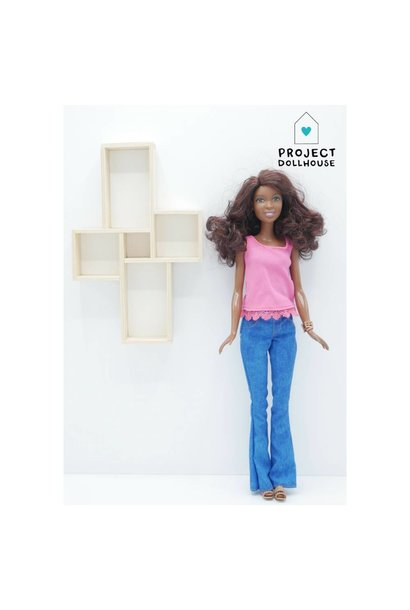 Wall Cabinet Four Squares Barbie
