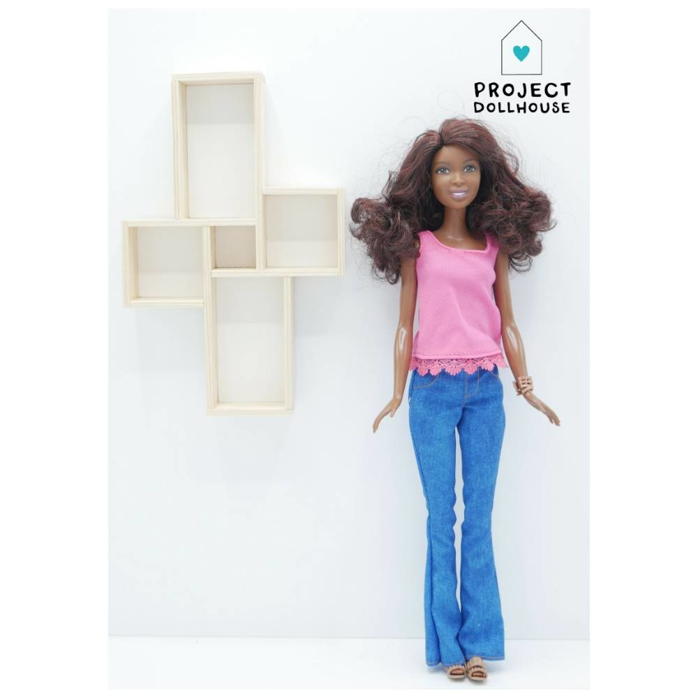 Wall Cabinet Four Squares Barbie-1