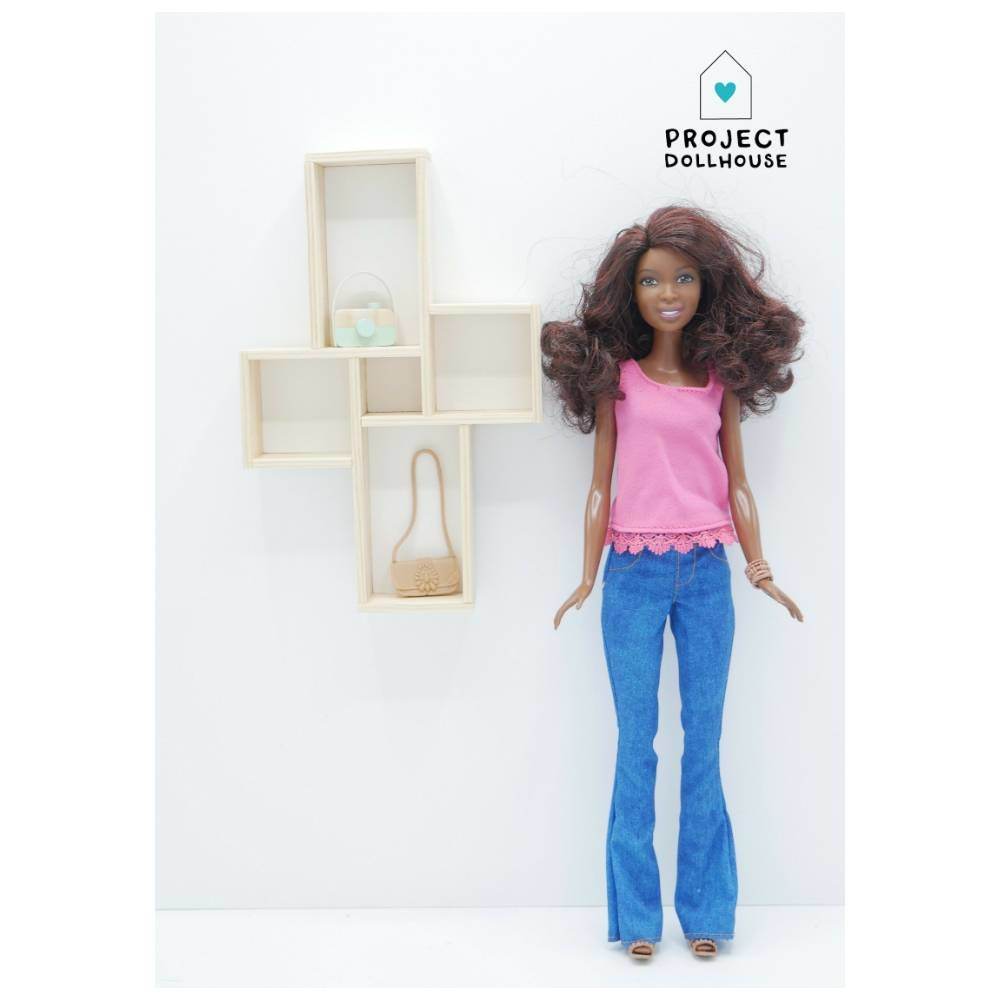Wall Cabinet Four Squares Barbie-2