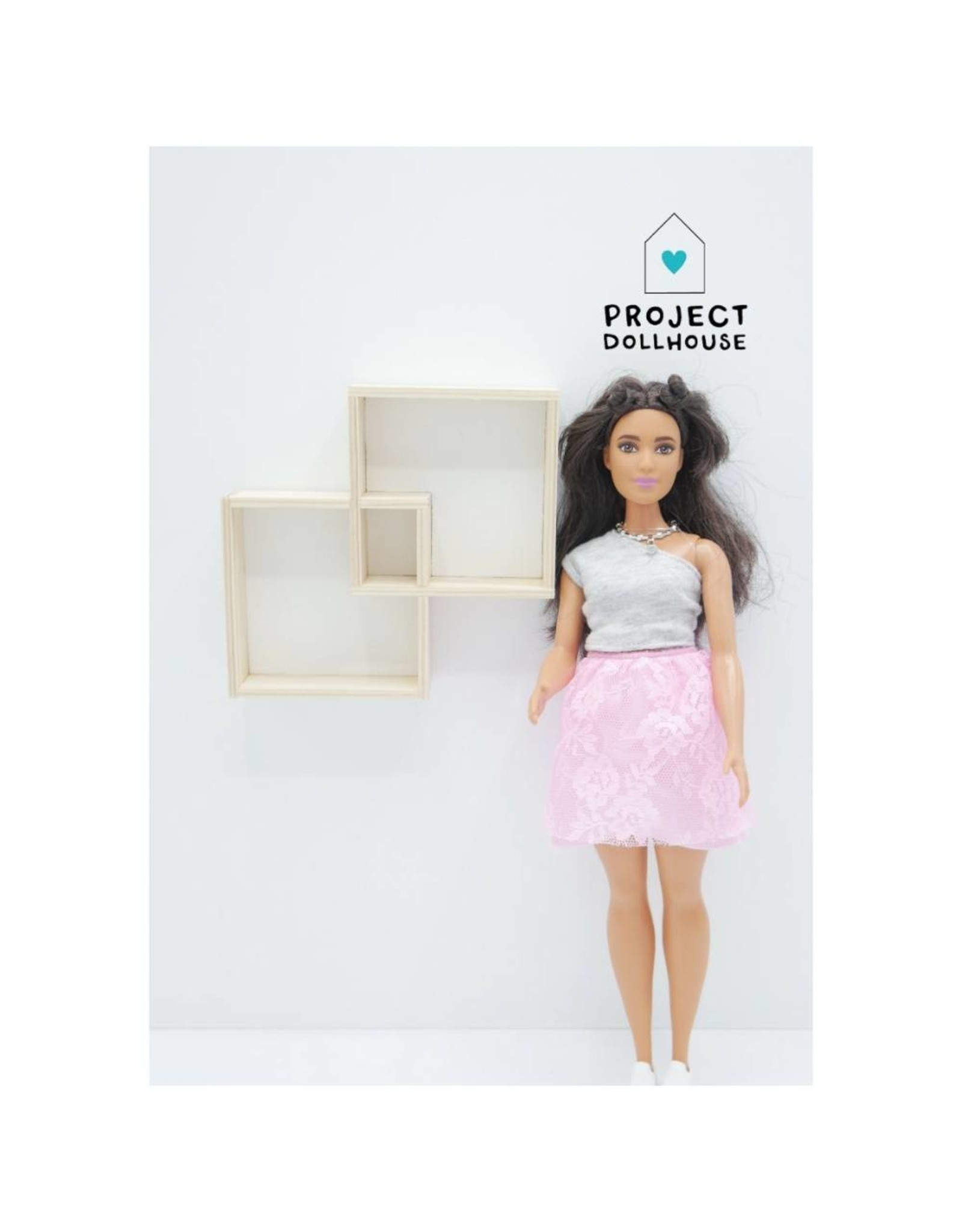 Project Dollhouse Wall Cabinet Two Squares Barbie